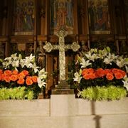 Composizione floreale liturgica