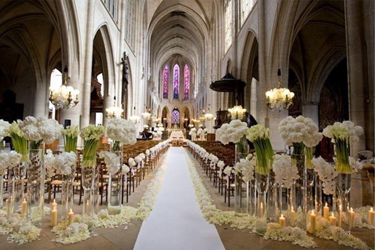Composizioni floreali, chiesa