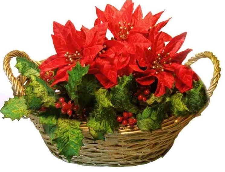Composizione floreale natalizia