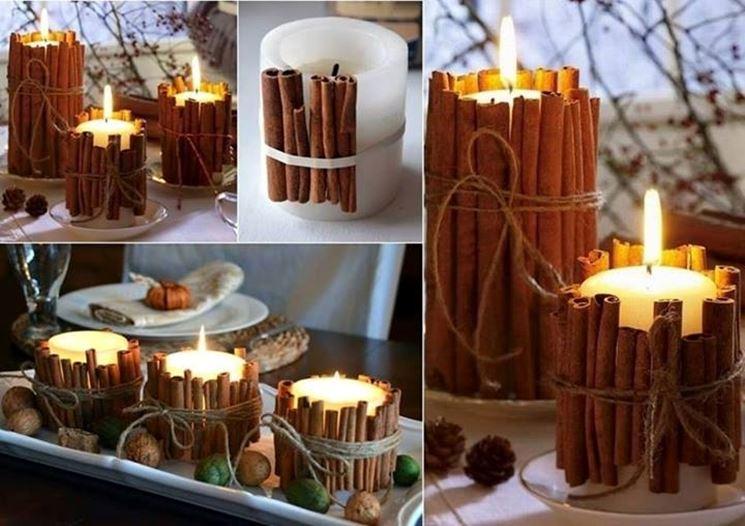 Basta accostare diversi materiali alle candele per ottenere decorazioni meravigliose
