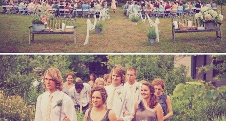 Il ricevimento del matrimonio fai da te