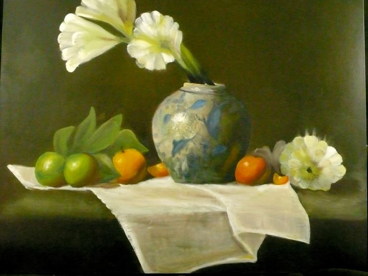 Quadro con fiori e frutti