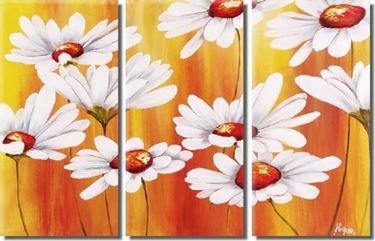 Quadro floreale a pannelli