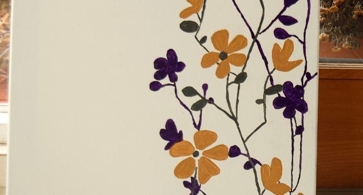 Quadretto con fiori dipinti