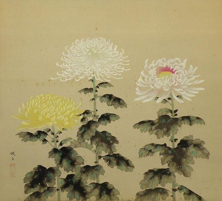 Crisantemi nell' arte Giapponese
