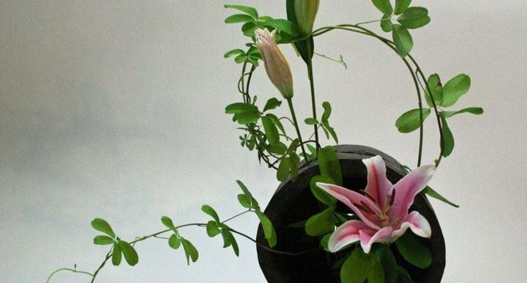 Ikebana con giglio