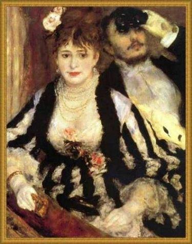 quadro di Renoir con rose