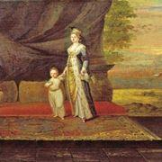 Dipinto raffigurante lady Montague, la prima teorizzatrice del linguaggio dei fiori