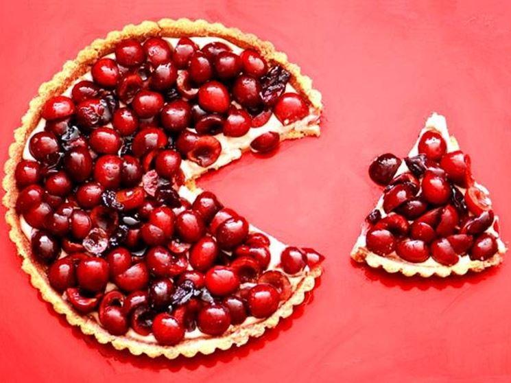 un dolce fatto con le ciliegie