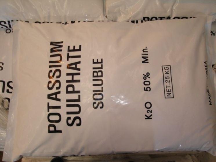Solfato di potassio (50% di K2O)