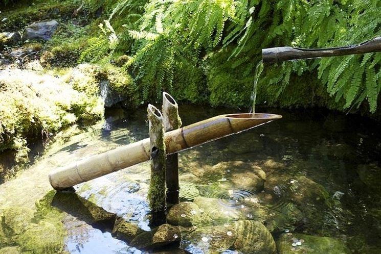 Decorazioni per esterni in bambù