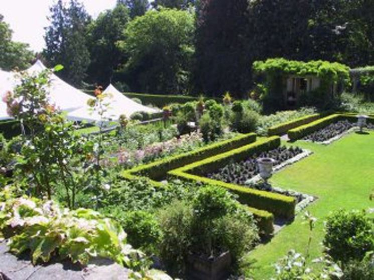Elementi del giardino all'italiana