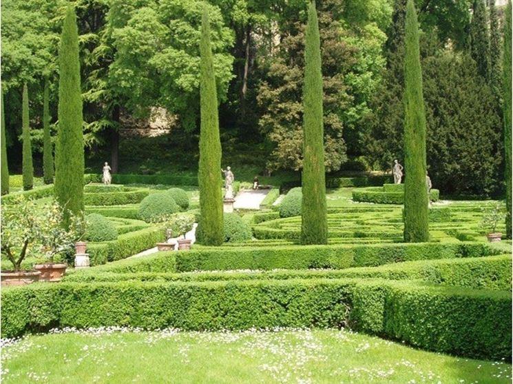Vialetti laterali in un giardino