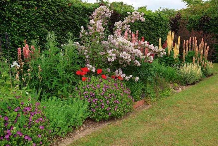 Idea per una composizione floreale in giardino