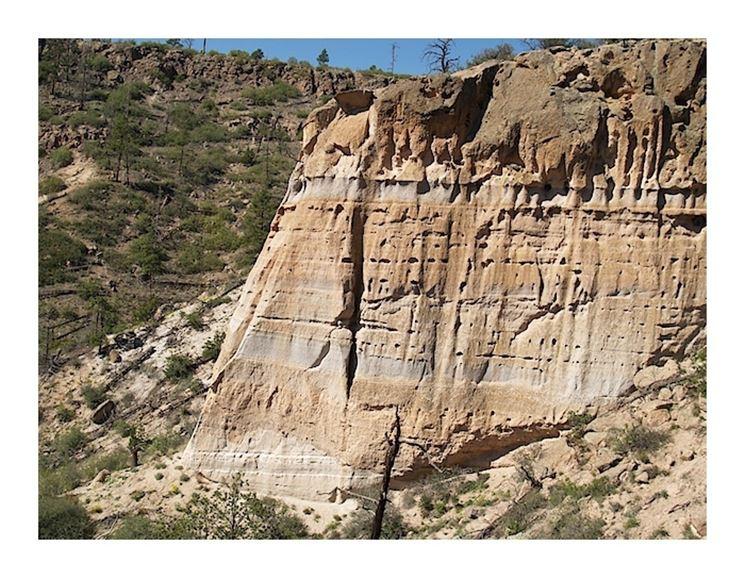 Una formazione naturale di tufo in Nuovo Messico