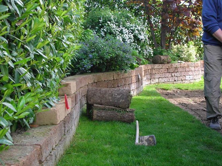 mattoni tufo giardinaggio mattoni in tufo per il giardino
