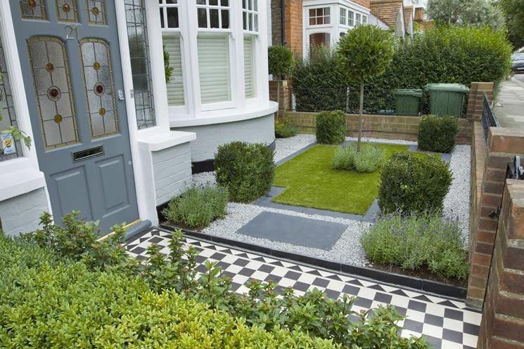 Piante in piccolo giardino