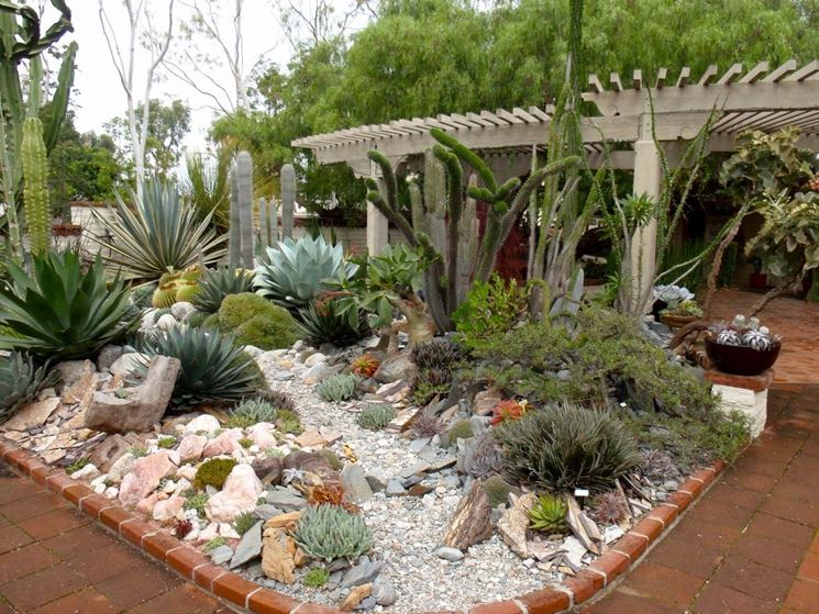 Fabuleux Giardini con piante grasse - Piante grasse - Creare giardini con  IP42