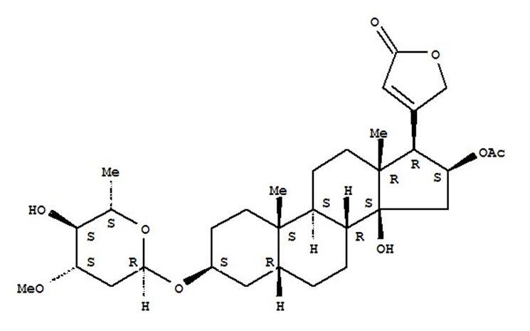 Struttura molecolare dell'oleandrina