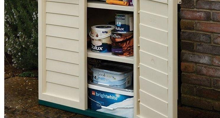 Armadio da esterno in plastica  Fonte: www.diyshop.com