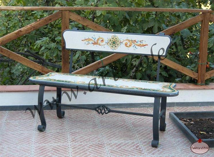 Arredo giardino ferro accessori da esterno arredo - Panchine da esterno in ferro ...