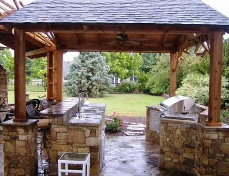Cucina con struttura in muratura