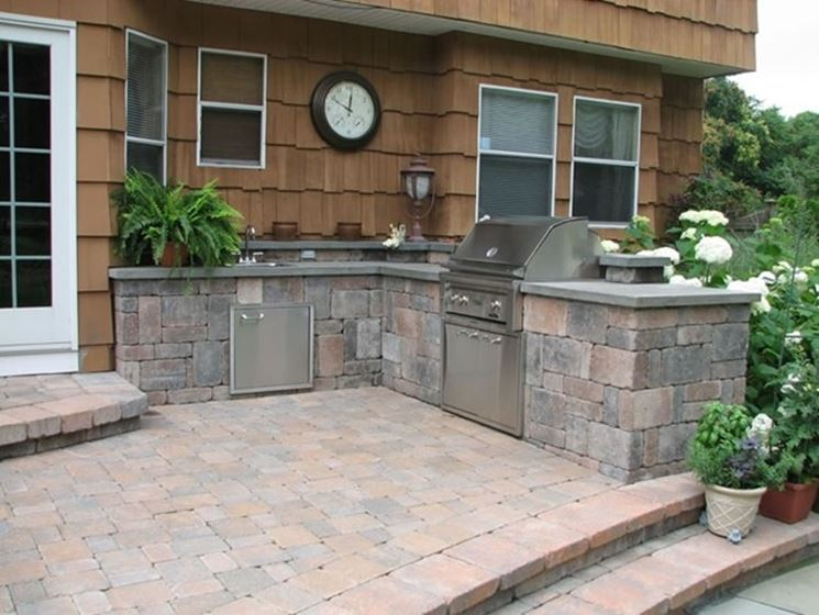 Cucine da giardino accessori da esterno cucine da - Cucine da esterno in muratura ...
