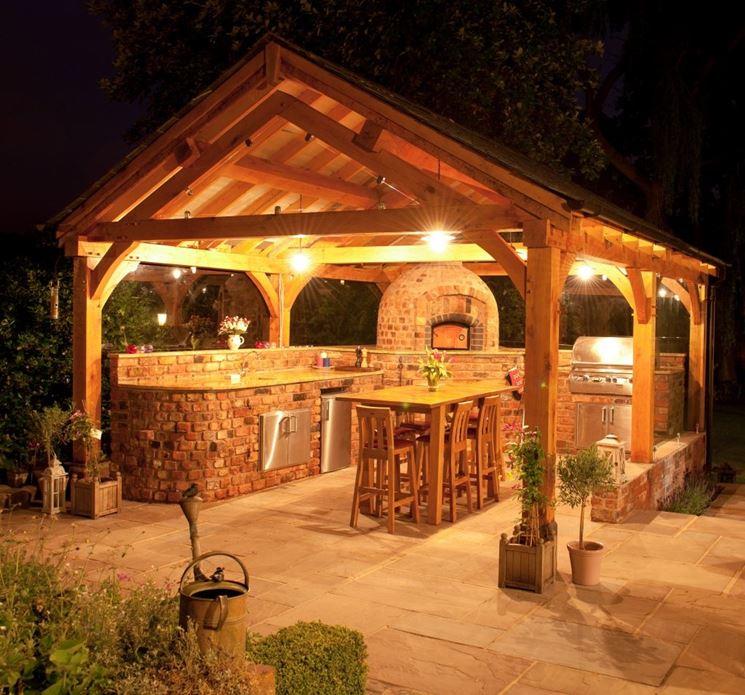 L'importanza di una buona illuminazione in una cucina da esterno in muratura