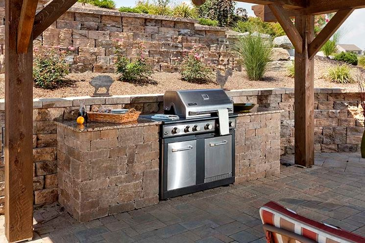 Cucine esterne in muratura accessori da esterno cucine for Piani di casa con cucina esterna e piscina