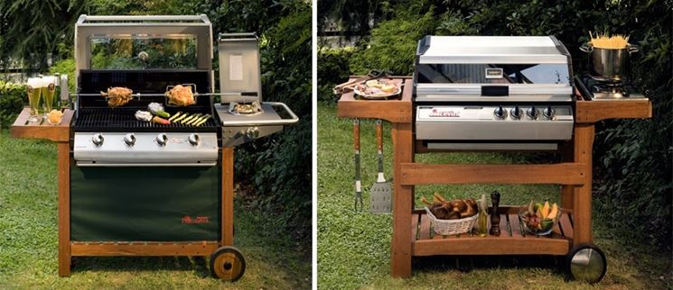Mobile barbecue per esterno
