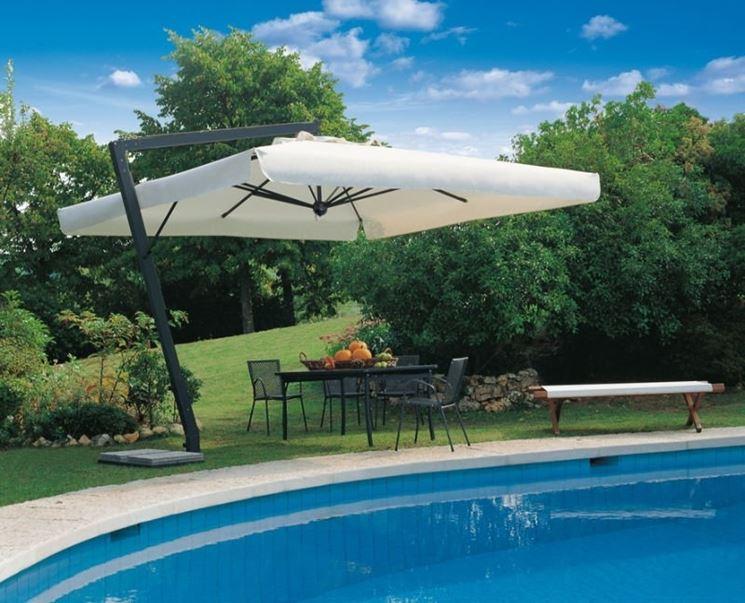 ombrellone da giardino in alluminio