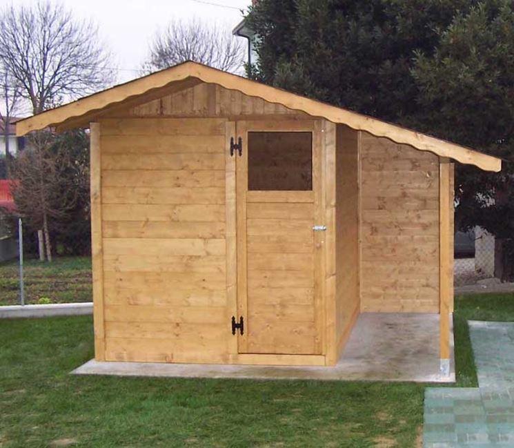 Casetta per attrezzi in legno