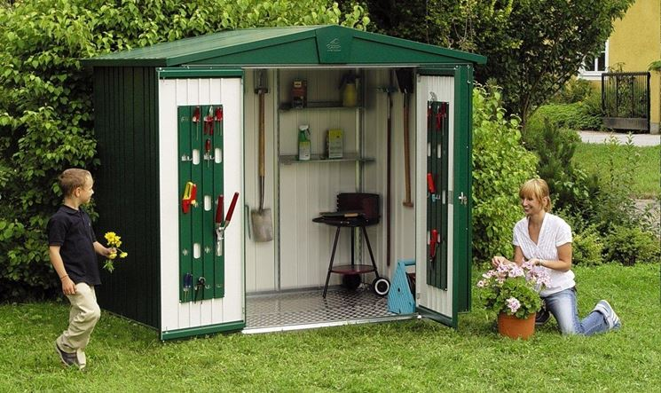 Casetta attrezzi giardino legno del concetto di - Casette in legno per giardino ...