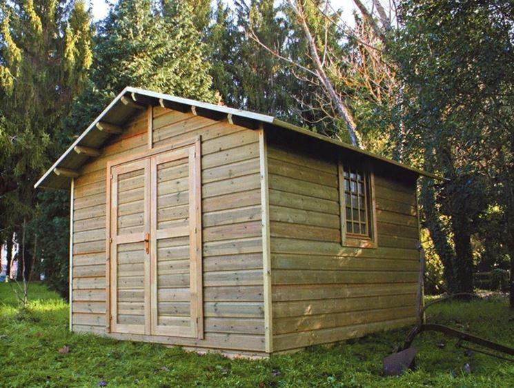 Dettaglio casetta in legno
