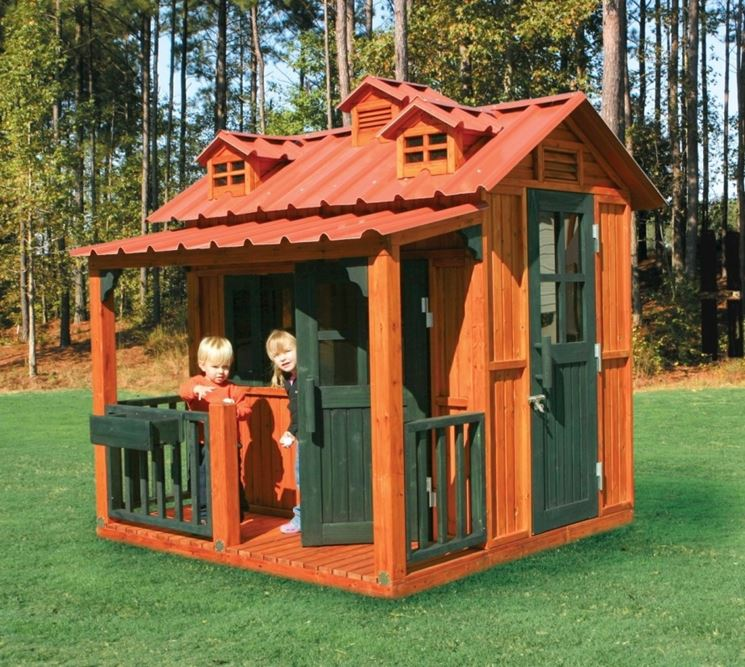 Casetta per bambini da giardino in legno