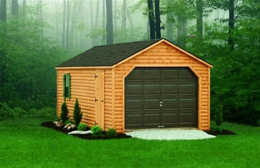 Garage in legno casette da giardino - Garage da giardino ...
