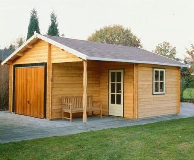 Garage in legno casette da giardino - Ripostiglio in legno da giardino ...
