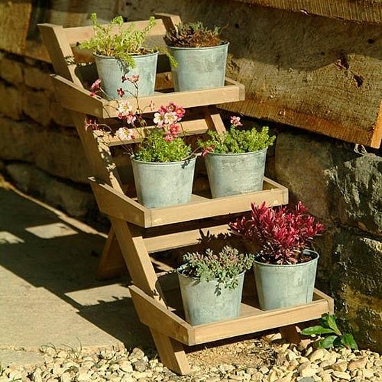 Portavasi complementi arredo giardino for Portavasi a scaletta