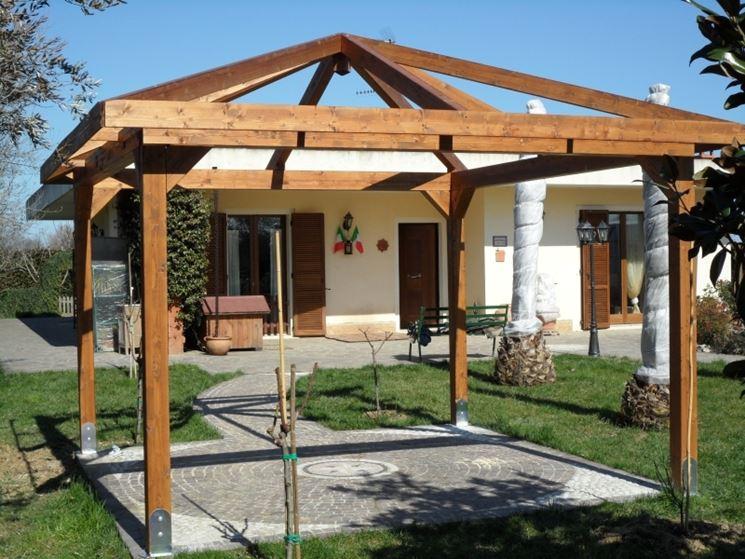 Come costruire un gazebo in legno gazebo gazebo in legno for Costruire un gazebo in ferro