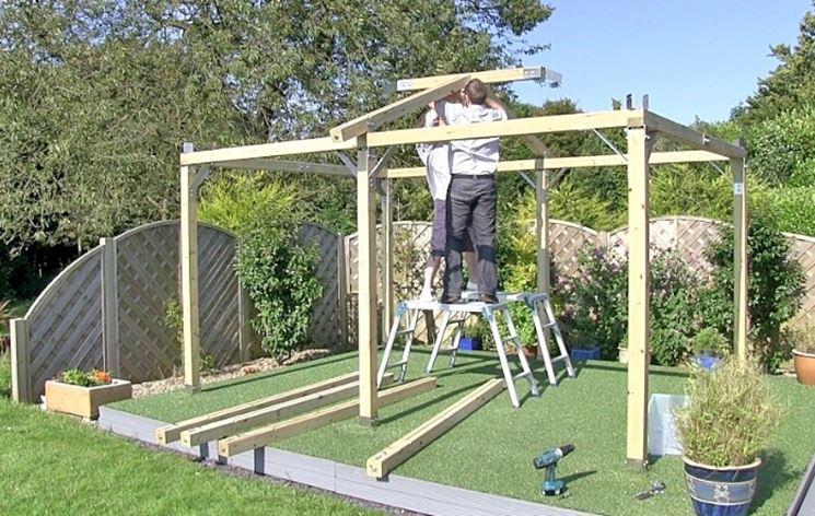 Come costruire un gazebo gazebo realizzare un gazebo for Costruire un gazebo in ferro