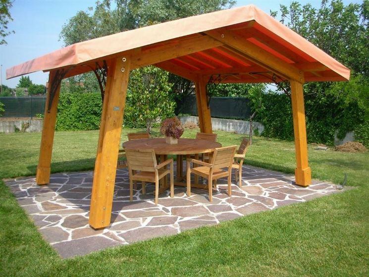 Gazebi in legno gazebo caratteristiche dei gazebi in legno for Pergola bioclimatica prezzo mq