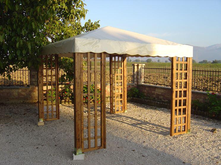 Gazebo in legno da giardino gazebo gazebi per giardino in legno - Pergola giardino ...