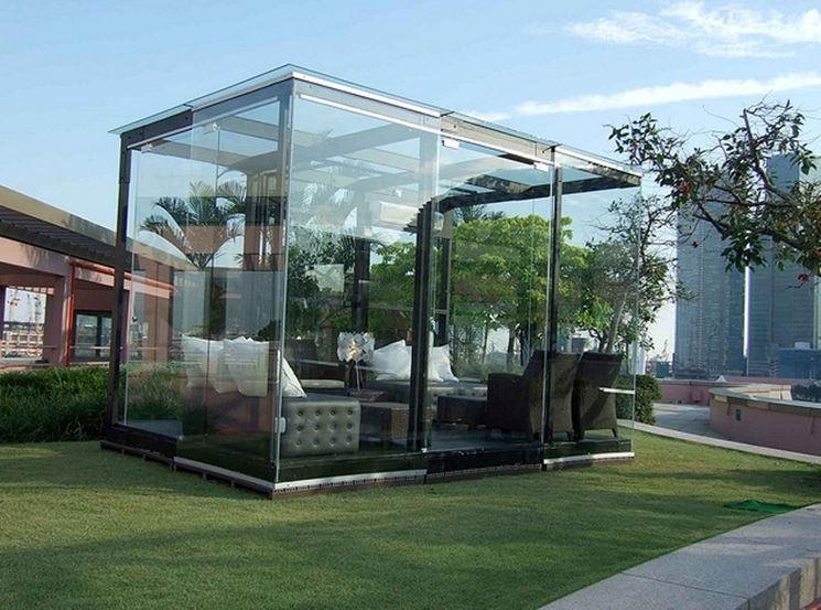 Una splendida realizzazione in ferro e vetro