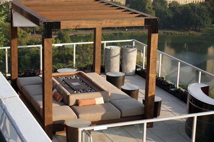 Gazebo per terrazzo gazebo terrazzo con gabezo - Rooftop terrace beautiful and fresh rooftop decorating ideas ...