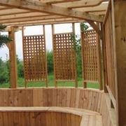Grigliati frangivento in legno