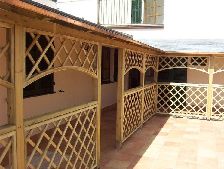 Grigliati in legno prezzi grigliati e frangivento for Grigliati in alluminio per terrazzi prezzi