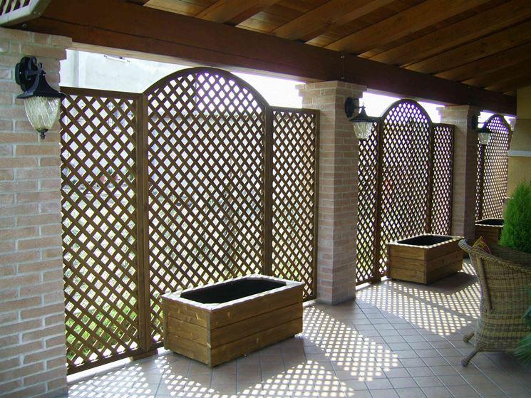 Grigliati per terrazzi grigliati e frangivento for Divisori da giardino