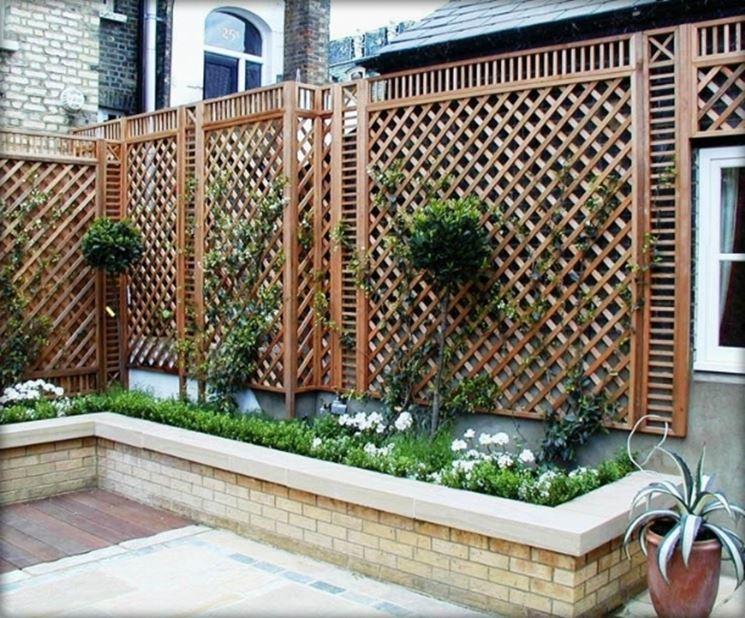 Grigliati in legno per terrazzo grigliati e frangivento - Recinzione terrazzo ...