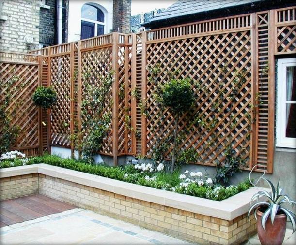 Grigliati in legno per terrazzo grigliati e frangivento - Mobili per terrazzo ...