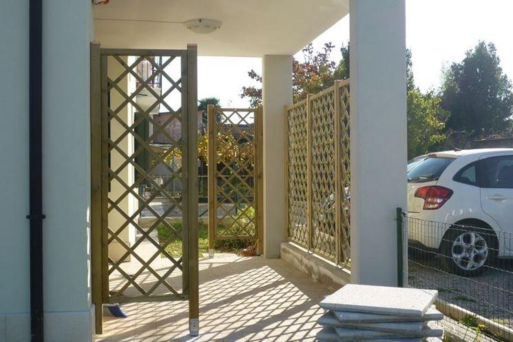 Griglie in legno grigliati e frangivento utilizzo for Divisori da giardino